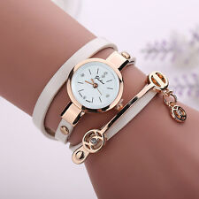 2017 Fashion Women's Ladies Watch Stainless Steel Leather Bracelet Wrist Watches