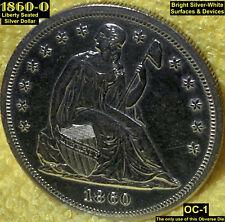 1860-O LIBERTY SEATED SILVER DOLLAR (OC-1) HIGH GRADE - EYE APPEAL!