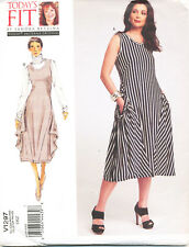 VOGUE SEWING PATTERN 1297 MISSES 10-32 LOOSE-FITTING PULLOVER DRESS - PLUS SIZES