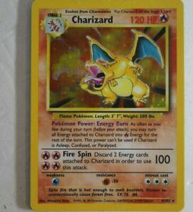 1999 Base Set Holo Foil Charizard WOTC RARE Non Shadowless Pokémon Card 4/102 MP