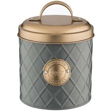 Typhoon Copper Grey Stainless Steel Sugar Canister Lid Kitchen Container Jar