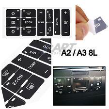 Set de 11 pegatinas adhesivos para reparación de clima Audi A2 A3 8L
