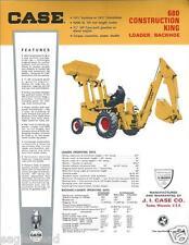 Equipment Brochure Case 680 Construction King Loader C1966 E2138