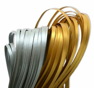 150 quilling paper strips in pearlescent silver and gold 3mm 5mm wide 125 gsm