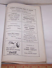 1940 LINTON JASONVILLE INDIANA Advertising Page COCA COLA Mobil Milk McClanahan