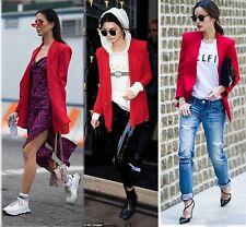 Byblos Blazer Donna 42 Rosso Giacca Lana Cashmere Red Jacket Women Veste Manteau