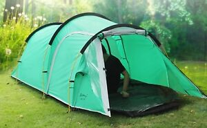 One Bedroom Living Room 3-4 Persons Double Layer Tunnel Family And Camping Tent