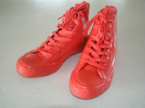 CONVERSE HI TOPS RED RUBBER BOOTS -US 6- CHUCK TAYLOR ALL STAR