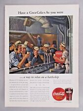 Coca-Cola PRINT AD - 1944 ~~ Coke, Navy
