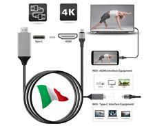 CAVO MHL TYPE C HDMI 4K FULL HD 1080P HDTV TV SAMSUNG HUAWEI IPAD MIRROR LINK