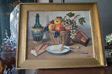 1900 antique Europe  oil painting Realism still life  signed by J.Lluyot
