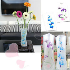 Foldable Plastic Unbreakable Reusable Flower Home Decor Vase Color Random 2pcs