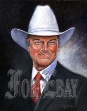 JR EWING Portrait #1 on Canvas_Larry Hagman DALLAS TV Show