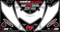 Kawasaki ZZR1400 2006 - 2011 Motografix Front Fairing Number Board Gel Protector