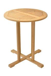 """36"""" BAR ROUND TABLE - A GRADE TEAK WOOD GARDEN OUTDOOR INDOOR POOL PATIO"""