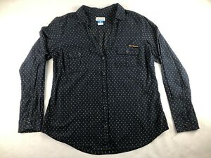 Columbia Size Large Women's West Virginia Collared Button Up Long Sleeve Top