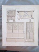 Vintage Print,MOBILIER,PORTE INTERIEURE,MARIAGI,Costume,Historique,1888,Racinet