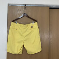 Polo Golf Ralph Lauren Mens Classic Fit Yellow Khaki Shorts Mens Size 38