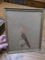ANTIQUE-VTG PICTURE FRAME WOOD GOLD PAINT PHOTO PAINTING MIRROR RARE 12X10