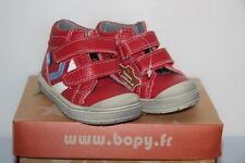 BOPY -  Bertrand - Chassures bébé Garçon -  Cuir Rouge  -  T 20 neuf