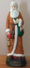 """Grandeur Noel porcelain Belgium SANTA 14"""" Figurine w/Box Santas of the World"""