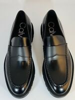 Calvin Klein Men's Shoes Leather Loafers Moccasins Fenix Size UK 8 / 42 BNIB