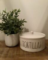 "NEW! Rae Dunn ""TORTILLAS"" Warmer With Lid LL Artisan Collection by Magenta HTF"