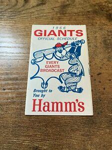 1966 SAN FRANCISCO GIANTS SCHEDULE   HAMM'S BEER