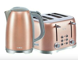 Tower Glitz 1.7l Kettle And 4 Slice Toaster Sets - Rose Pink