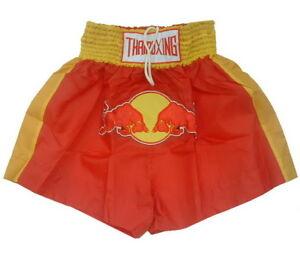 N7 Muay Thai Kick Boxing Shorts Red Redbull logoes style MMA S- 5XL