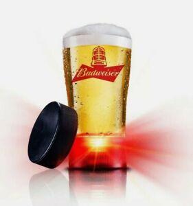 NHL Budweiser Red Light  Goal Synced Glass Cup Hockey