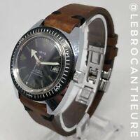 IRYS Datomatic Montre Vintage Diver's Watch Calibre mécanique Circa 1970 Cuir