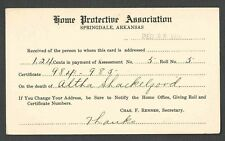 1917 PC SPRINGFIELD ARK HOME PROTECTIVE SERVICES NOTICE OF PAYMENT