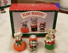 Hallmark Merry Miniatures The Sewing Club 1996 w/box Christmas Mice, Excellent!