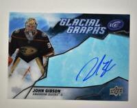 2019-20 ICE Glacial Graphs Auto #GG-JG John Gibson - Anaheim Ducks