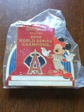 Cast Disneyland Salutes 2002 World Series Champions Anaheim Angels Pin SEALED