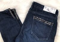 Blank NYC Studded Skinny Zip Ankle Denim Jeans, Women's Size 31 (32.5x28)