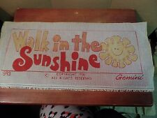 "6 1/4"" X 18"" Walk in The Sunshine Printed Needlepoint Canvas M #1872"