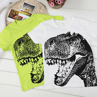 Baby Boys Summer Clothes Cartoon Short Sleeve Dinosaur Print T-Shirt Tops Blouse