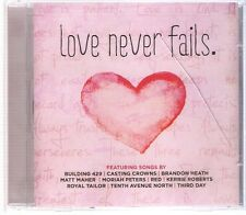CD Love never fails. Casting Crowns. Third Day. Building 429... Nuevo. CCM