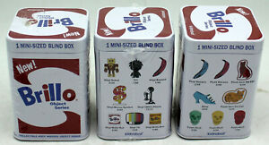 3 Brillo Object Series by Kidrobot Andy Warhol Figures/Toys Cat,Skull,Blind Box