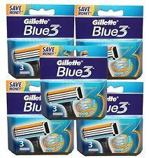 15 Gillette Blue3 Rasierklingen passt für Sensor & Sensor Excel Rasierer in OVP
