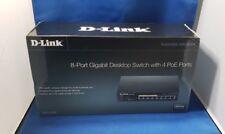 D-Link DGS-1008P 8-Port Gigabit Desktop Switch with 4 PoE Ports