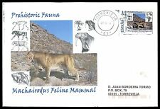 Spain Prehistoric mammal tigre dientes de sable-Custom Stamp only 5 cover Made!!! cg28