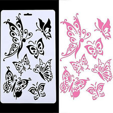 DIY Craft Butterfly Layering Stencils Template Embossing Scrapbooking Stamps L7