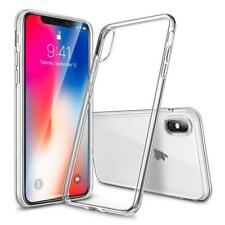 NEW iPhone X 10 Hard Slim Crystal Clear Transparent Apple Case Frame Back Cover