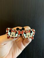 Disney Minnie Mouse Polka Dot Sunglasses Pin With Bow ~ Discontinued