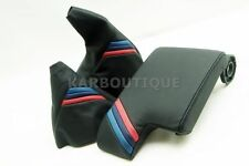 Armrest Cover for 99-04 BMW E46 Leather Console & Boot Set with M Style Stripes