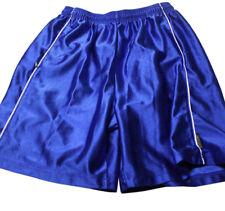Reebok Teen Boys Size L Shorts Blue White Elastic Tie Waist Gym Sport Exercise