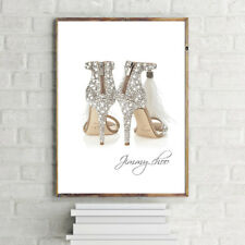 CHOO Ostrich Feather SHOES PRINT A4 POSTER PRINT WALL HANGING 280GSM